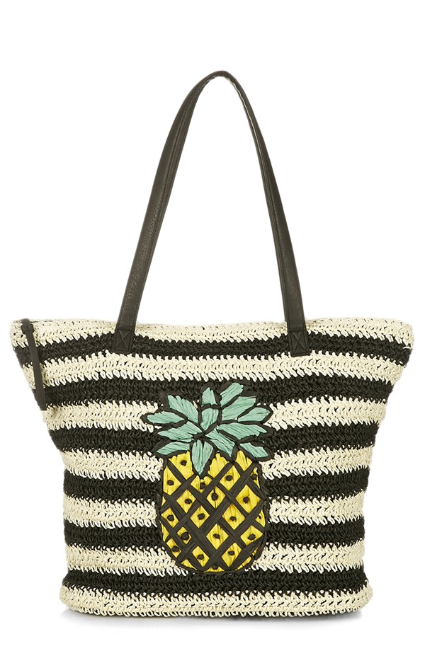 3.Topshop Pineapple Woven Tote