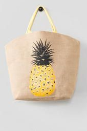7.Francesca's Pineapple Beach Tote