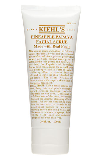 6.Kiehls's Pineapple Papaya Face Scrub